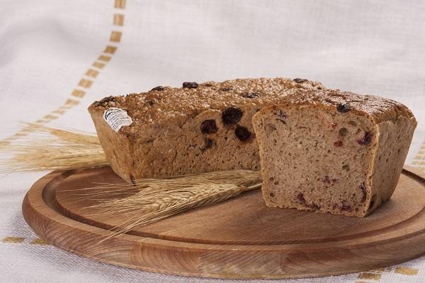 Chleb pytlowy z żurawiną